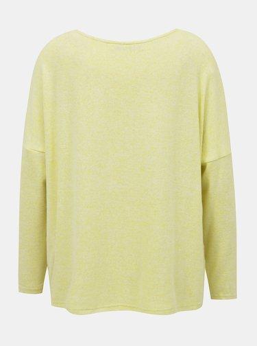 Svetložltý voľný sveter ONLY