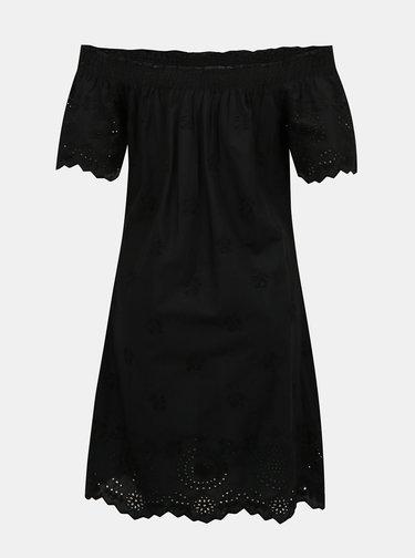 Čierne šaty s madeirou ONLY