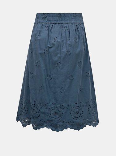 Modrá sukňa s madeirou ONLY