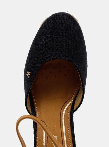 Tmavě modré dámské sandálky na klínku Wrangler