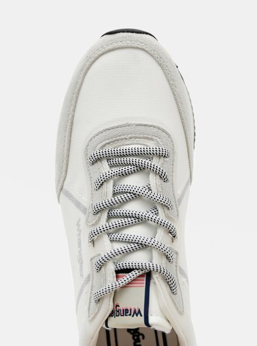 Šedo-bílé dámské tenisky s detaily v semišové úpravě Wrangler