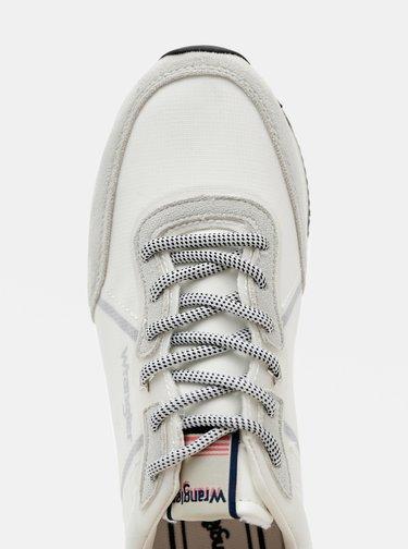 Šedo-biele dámske tenisky s detailmi v semišovej úprave Wrangler