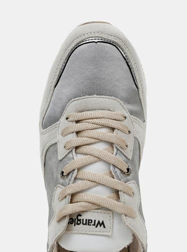 Dámské tenisky ve stříbrné barvě v semišové úpravě Wrangler