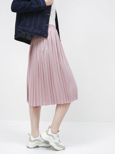 Svetloružová plisovaná sukňa ZOOT Petra