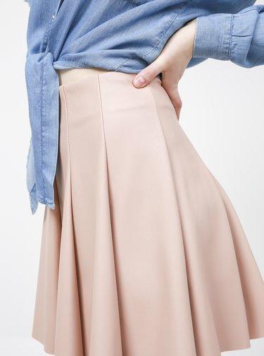Starorůžová koženková sukně TALLY WEiJL