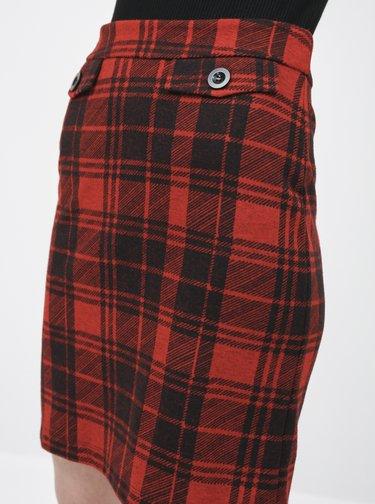 Červená kostkovaná sukně M&Co