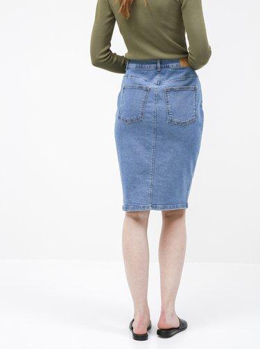 Modrá džínová pouzdrová sukně AWARE by VERO MODA Mina
