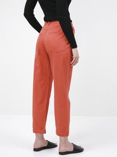 Cihlové zkrácené kalhoty Jacqueline de Yong Lopa