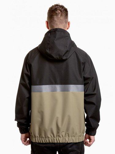 Khaki-černá pánská voděodolná bunda NUGGET Scope