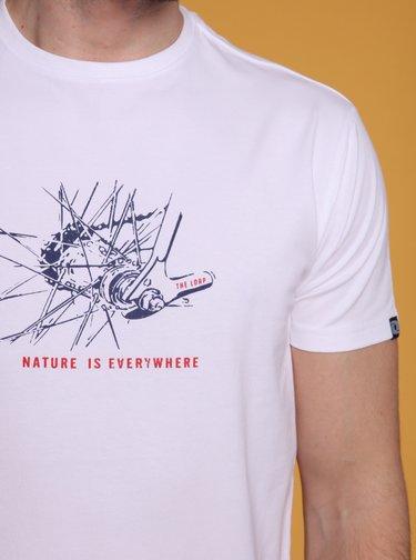 Bílé pánské tričko s potiskem LOAP Anton