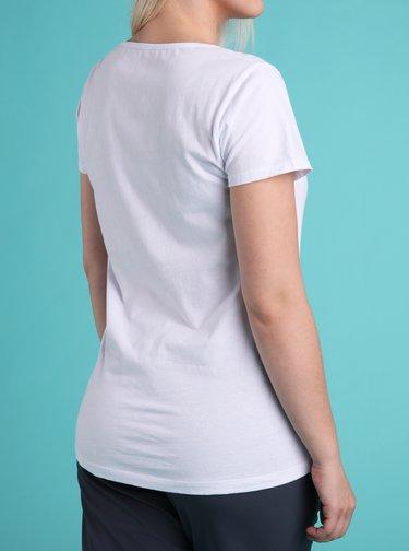 Bílé dámské tričko s potiskem LOAP Bacara