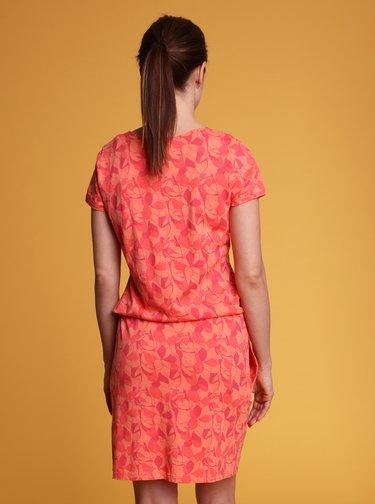 Oranžové dámske vzorované šaty LOAP Banyta