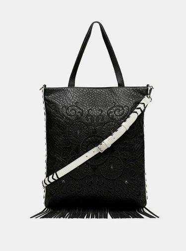 Čierno-biela kabelka Desigual