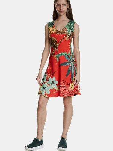 Červené kvetované šaty Desigual