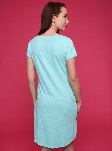 Světle modré dámské šaty LOAP Banny