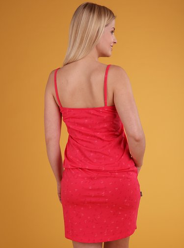 Ružové dámske vzorované šaty LOAP Barila