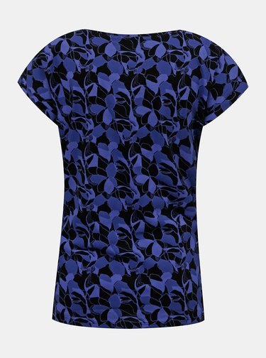 Tmavě modré dámské vzorované tričko LOAP Babett