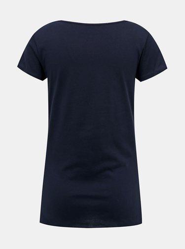 Tmavě modré dámské tričko s potiskem LOAP Bacara