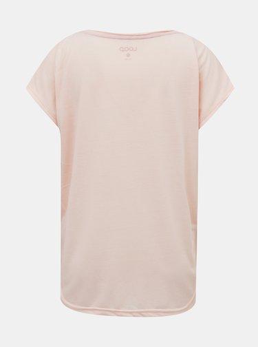 Ružové dámske vzorované tričko LOAP Alby