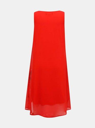 Červené květované šaty Desigual