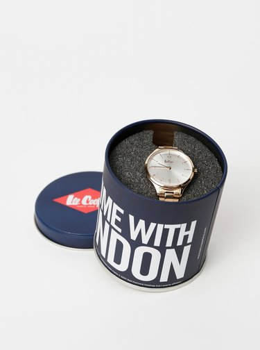 Dámske hodinky s nerezovým remienkom v modro-zlatej farbe Lee Cooper