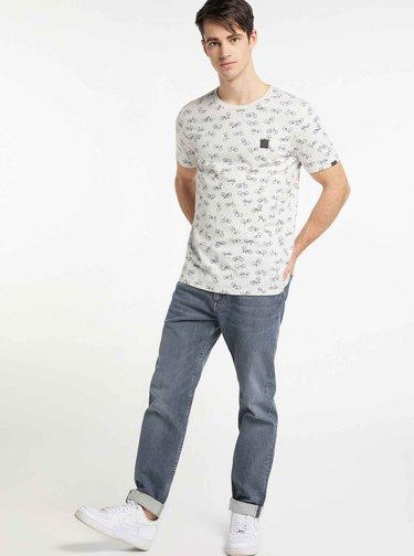 Biele pánske vzorované tričko Ragwear