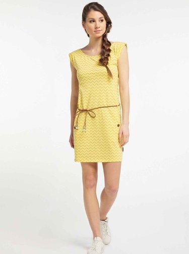 Žlté vzorované šaty Ragwear