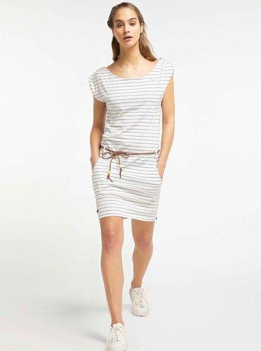 Bílé pruhované šaty Ragwear