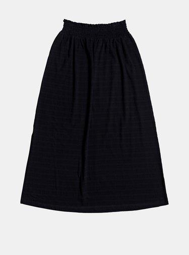 Čierna maxi sukňa s rozparkom Roxy