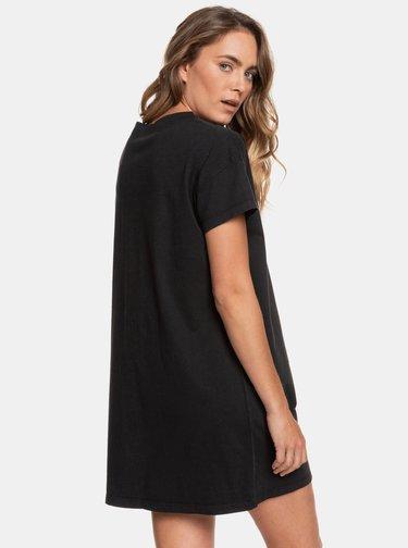 Čierne šaty s vreckom Roxy