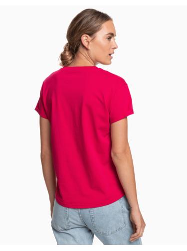 Ružové tričko s potlačou Roxy