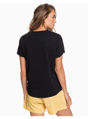 Čierne tričko s potlačou Roxy