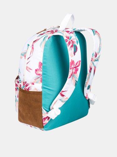 Biely kvetovaný batoh Roxy