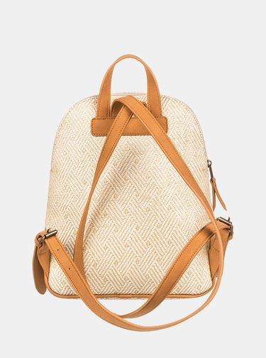 Béžový vzorovaný batoh Roxy