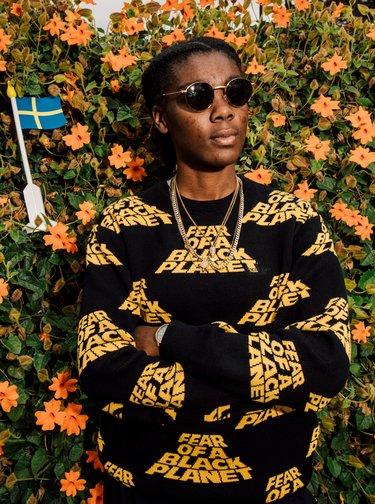 Sluneční vzorované brýle ve zlaté barvě CHPO Liam