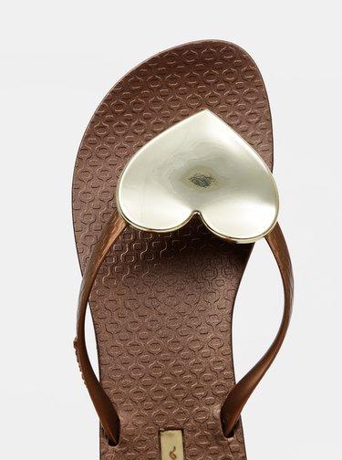 Hnedé dámske žabky Ipanema