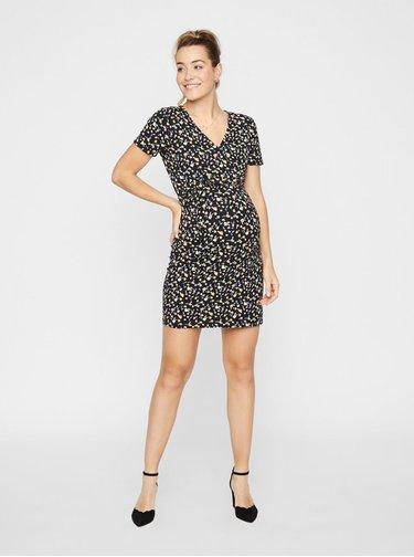 Černé vzorované těhotenské/kojící šaty Mama.licious