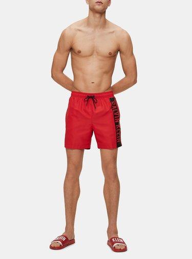 Červené pánske šľapky Calvin Klein Underwear