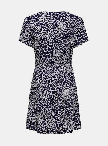 Tmavě modré vzorované šaty ONLY