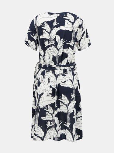 Bílo-modré květované šaty Roxy