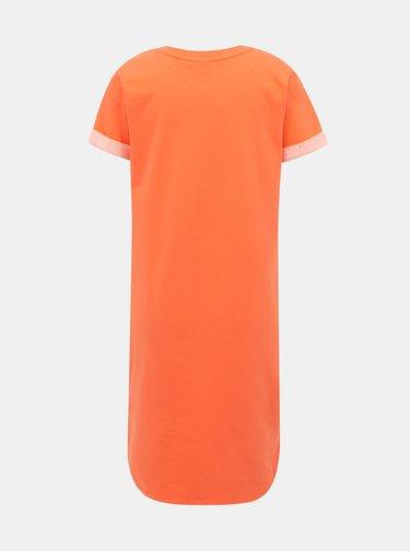 Koralové basic šaty Jacqueline de Yong