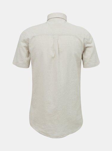 Béžová lněná košile Lindbergh