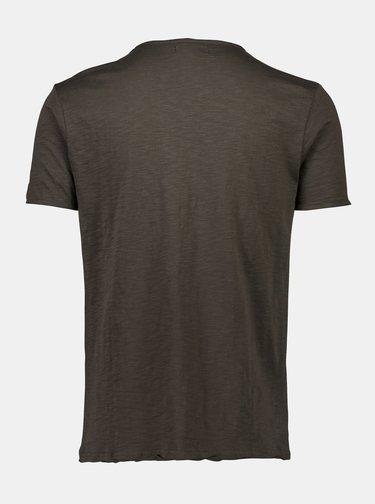 Tmavě hnědé tričko Shine Original