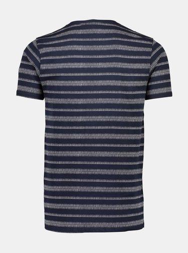 Tmavomodré vzorované tričko Shine Original