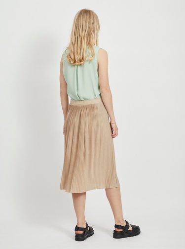 Béžová plisovaná sukňa VILA