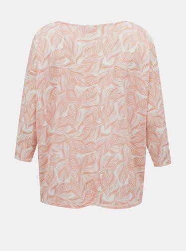 Ružové vzorované tričko ONLY CARMAKOMA