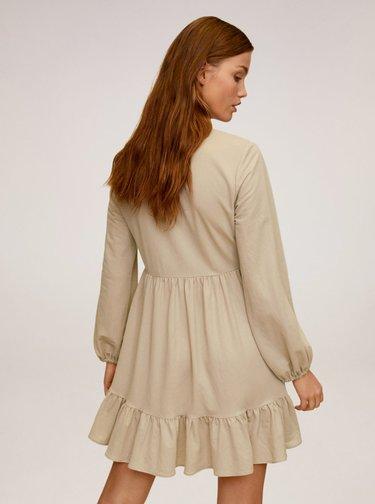 Béžové košilové šaty Mango Almudena