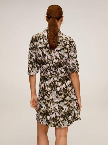 Béžové košilové šaty Mango Cascabe