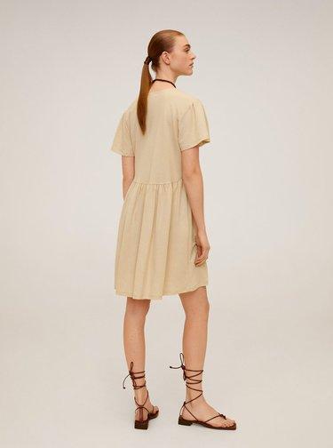 Béžové volné šaty Mango Thalia