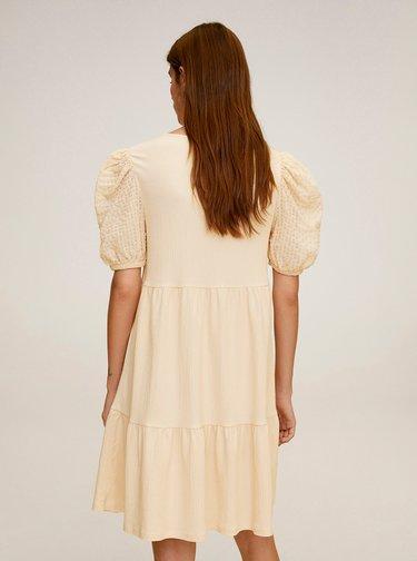 Béžové volné šaty Mango Alice